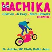 Copertina del remix di Machika del cantante colombiano J Balvin